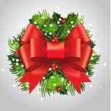 Nieuwjaarskaart met het traditionele tameing De decoratie van Kerstmis voor uw ontwerp Vrolijke Kerstmis en Gelukkig Nieuwjaar Ve Royalty-vrije Stock Fotografie