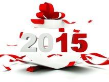2015 nieuwjaarteken binnen het heden Stock Afbeeldingen