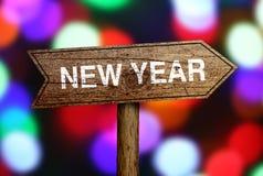 Nieuwjaarverkeersteken Royalty-vrije Stock Fotografie