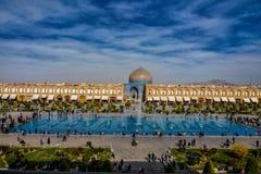 Nieuwjaarviering in het Imam vierkant Royalty-vrije Stock Afbeeldingen