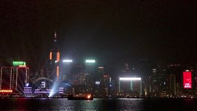 Nieuwjaarviering in Hong Kong 2016 stock video