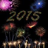 2015 nieuwjaarvuurwerk Royalty-vrije Stock Afbeelding