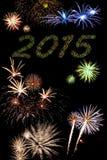 2015 nieuwjaarvuurwerk Stock Foto's
