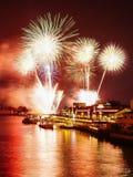 Nieuwjaarvuurwerk Thailand Royalty-vrije Stock Fotografie