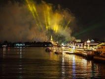 Nieuwjaarvuurwerk Thailand Royalty-vrije Stock Afbeeldingen