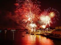 Nieuwjaarvuurwerk Thailand Royalty-vrije Stock Foto's