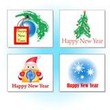Nieuwjaren kaarten Royalty-vrije Stock Fotografie