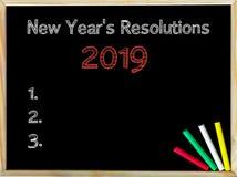 Nieuwjaren Resoluties 2019 royalty-vrije stock afbeelding
