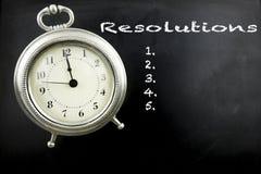 Nieuwjaren resoluties op bord Stock Fotografie