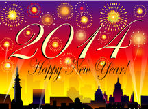 Nieuwjaren van 2014 -  Royalty-vrije Illustratie