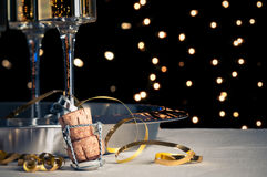 Nieuwjaren van Champagne Royalty-vrije Stock Afbeelding