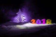 Nieuwjaren van de Achtergrond vooravondviering met nieuwe jaarelementen of symbolen Decoratie voor groetkaart Gelukkig Nieuwjaar  Royalty-vrije Stock Afbeeldingen