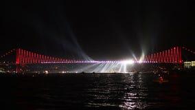 Nieuwjaren van Eve Celebrations in Istanboel stock videobeelden