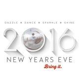 2016 nieuwjaren Vooravond Royalty-vrije Stock Afbeeldingen