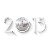 Nieuwjaren Vooravond 2015 Achtergrond Royalty-vrije Stock Afbeeldingen
