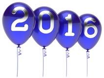 Nieuwjaren Vooravond 2016 de partijdecoratie van de ballonswintertijd Royalty-vrije Stock Foto