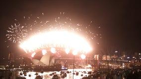 Nieuwjaren Vooravond 2013 Sydney stock footage