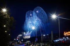 Nieuwjaren Vuurwerk Stock Afbeeldingen
