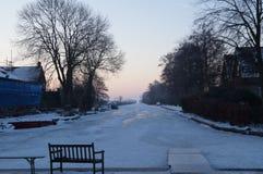 Nieuwkoopse plassen gefrorenes Stockbilder