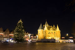 Nieuwmarkt winter night Stock Photo