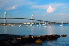Nieuwpoort Pell Bridge royalty-vrije stock afbeeldingen