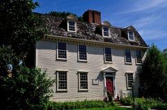Nieuwpoort, RI: 1724 de Hoofdherberg van Pitt Stock Foto