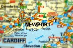 Nieuwpoort, Wales, het Verenigd Koninkrijk Stock Afbeelding