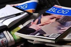 Nieuws, blog Royalty-vrije Stock Foto's