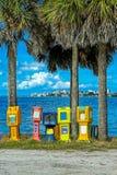 Nieuws en tijdschrifttribunes in Sarasota royalty-vrije stock fotografie