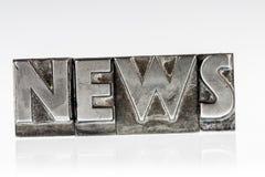 Nieuws in loodbrieven Stock Foto's