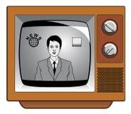 Nieuws op oude televisie Stock Afbeeldingen