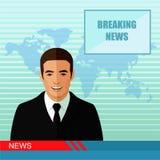 nieuws, studioverslaggever vector illustratie