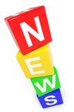 NIEUWS. Toren van kleurrijke kubussen. Royalty-vrije Stock Fotografie