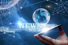 Nieuws van het netwerk van royalty-vrije stock afbeelding