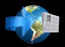 Nieuws van rond de wereld royalty-vrije illustratie