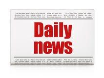 Nieuwsconcept: het Dagelijkse Nieuws van de krantenkrantekop Stock Fotografie