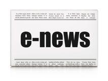 Nieuwsconcept: het e-Nieuws van de krantenkrantekop Royalty-vrije Stock Afbeeldingen