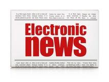 Nieuwsconcept: het Elektronische Nieuws van de krantenkrantekop Royalty-vrije Stock Afbeeldingen