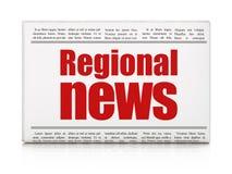 Nieuwsconcept: het Regionale Nieuws van de krantenkrantekop Royalty-vrije Stock Afbeelding
