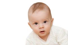 Nieuwsgierig babygezicht Stock Foto's
