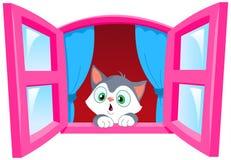 Nieuwsgierig katje stock illustratie