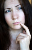 Nieuwsgierig meisje Royalty-vrije Stock Foto's