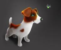 Nieuwsgierig puppy Stock Afbeelding