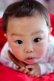 Nieuwsgierige babyjongen Stock Afbeelding
