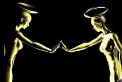 Nieuwsgierige engelen vector illustratie