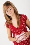Nieuwsgierige jonge vrouw Royalty-vrije Stock Fotografie