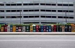 Nieuwsmashines in de straat van Chicago, de V.S. Stock Fotografie