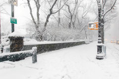 Nieva en NYC Fotos de archivo libres de regalías