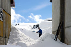 Nieve 7 Imagen de archivo libre de regalías