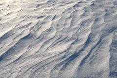 Nieve acumulada por la ventisca Fotos de archivo